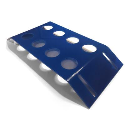 holder til pilleglas blå