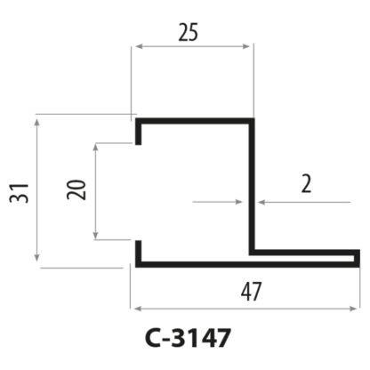 CP3147 stålprofil