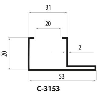 CP3153 stålprofil